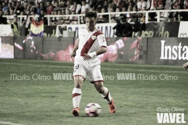 Fran Beltrán durante un partido con el Rayo | Fotografía: María Olmo