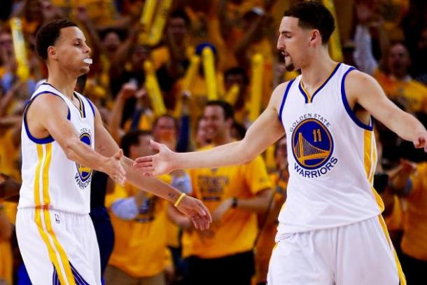 Splash bros celebrating Getty Images