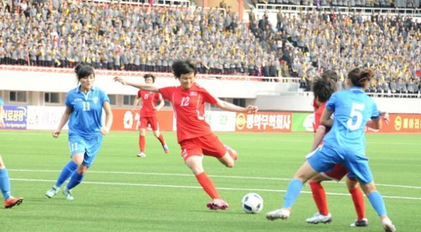 Coreia do Norte fica 'só' no 4 a 0 (Foto: Divulgação/DPR Korea Football Association)