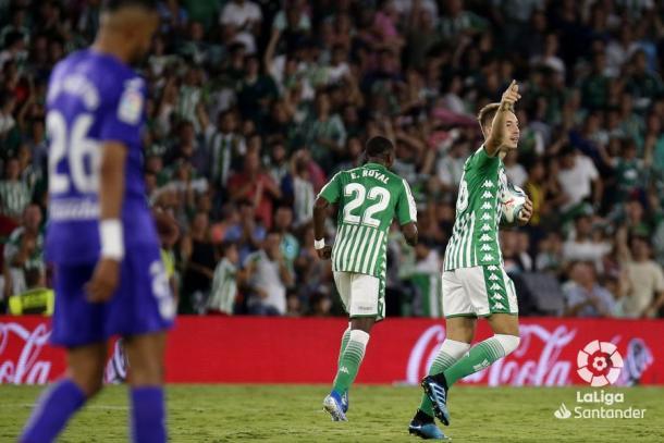 Loren Morón celebrando su gol frente al Leganés | Fotografía: La Liga