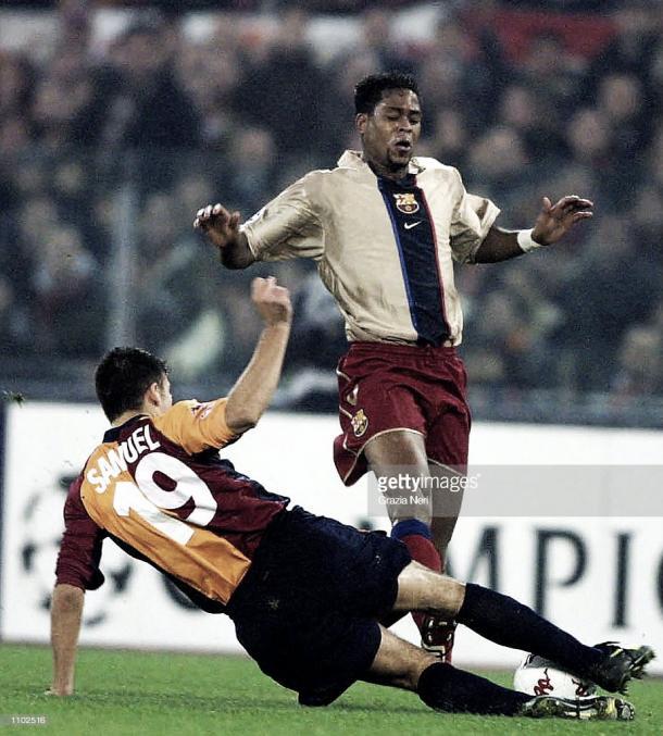 Imagen de la última vez que la Roma derrotó al Barça. Foto: gettyimages.com