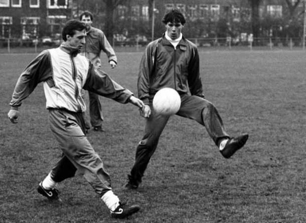 Entrenamiento del Ajax, Cruyff y Van Basten (wordpress)