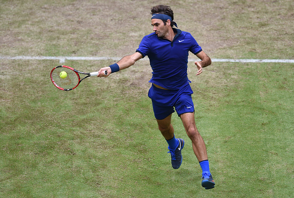 Federer upped his game at the end of set two to level the match up (Photo: Getty Images/Carmen Jaspersen)
