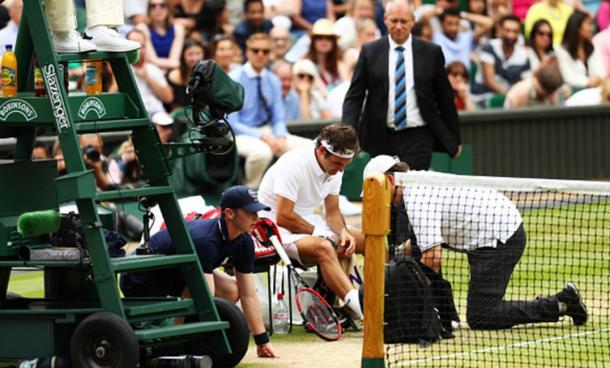 Injuries were a constant problem for Federer in 2016 (Photo: Getty Images/Julian Finney)