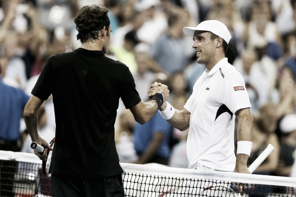 The pair after their US Open clash (Photo: Getty Images/Matthew Stockman)