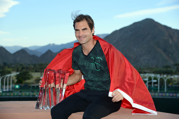Federer won his second title of the year in Indian Wells (Photo by Kevork Djansezian / Getty)