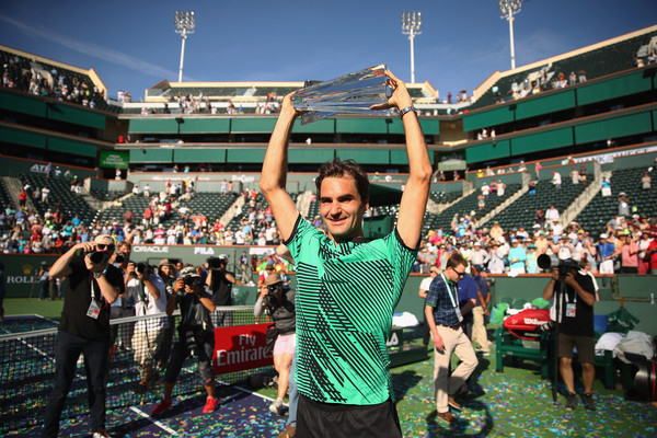 Federer dominated the North American scene (Photo by Clive Brunskill / Getty)