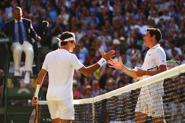 Federer defeated Raonic for the second time in three meetings at Wimbledon (Photo by Clive Brunskill / Getty)