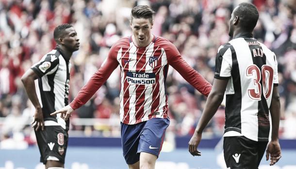 Fernando Torres, eufórico tras el gol | Atlético de Madrid