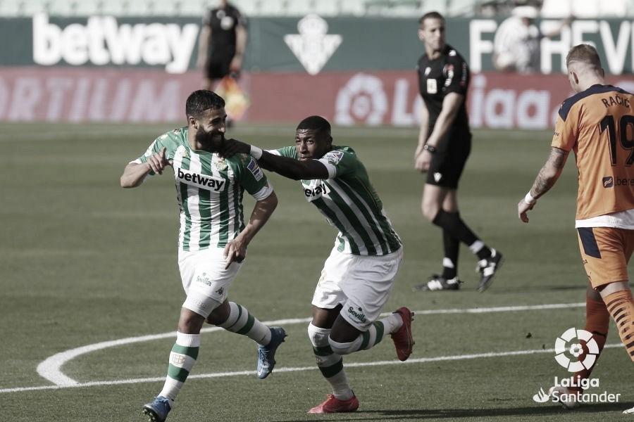 Fekir adelanta al Betis en el marcador./ Foto: LaLiga Santander