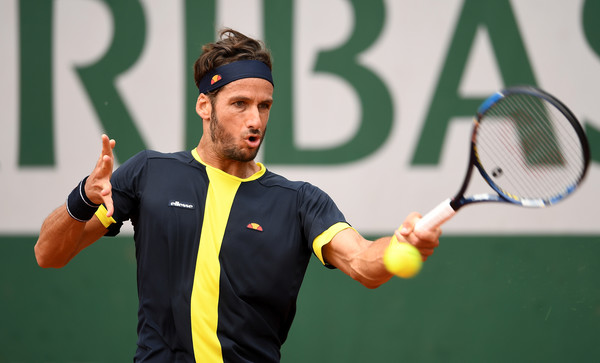 Feliciano Lopez in action at the French Open (Photo by Dennis Grombkowski / Source : Getty Images)