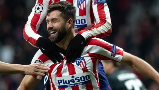 Felipe celebrando con sus compañeros. / Fuente: Mundo Deportivo