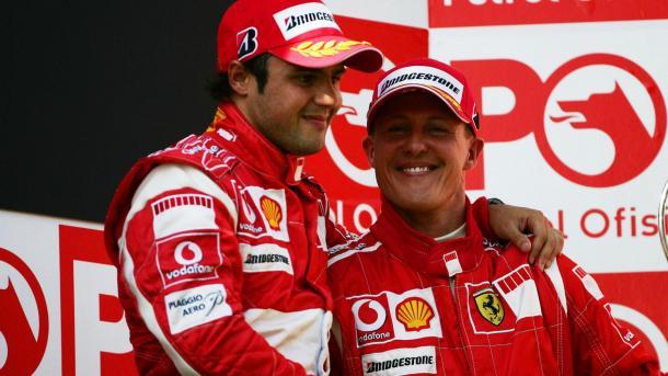 Felipe e Michael, in Turchia, nel 2006. Fonte foto: Formula1.com