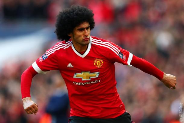 Marouane Fellaini came up big again for Manchester United, netting a goal and producing key stoppages. | Source: MUFC