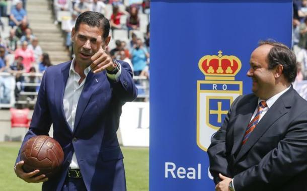 Hierro en su presentación   Foto: Real Oviedo