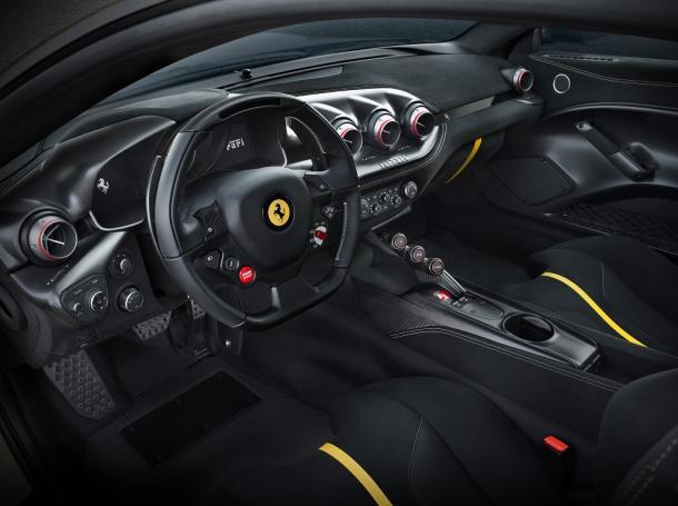 Interior Ferrari F12 tdf (Imagen: Ferrari)