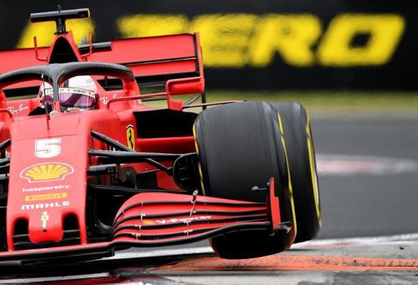 Vettel en el GP de Hungría. Foto: F1