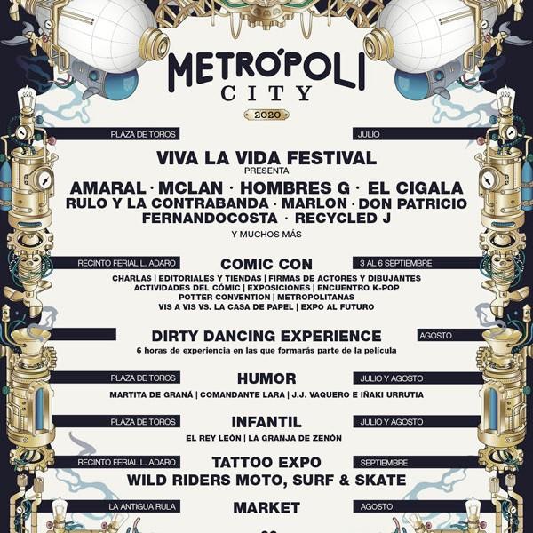 Cartel Metropoli City // fuente: viva la vida (instagram)