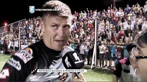 Sebastián Bértoli, charlando con la prensa. Foto: Captura de televisión de Fútbol Para Todos