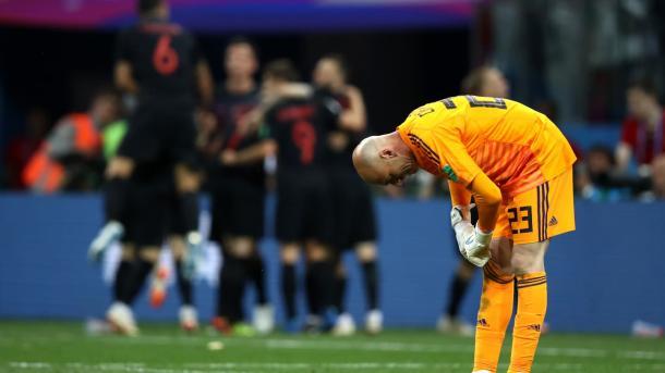 Caballero erró en una salida y la Argentina lo pagó caro | Foto: Getty Images.
