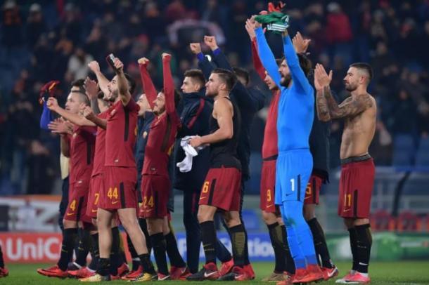 Los jugadores de la Roma celebran una victoria | Foto: AS Roma