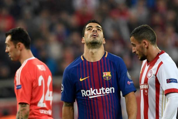 Suárez lamenta chances perdidas | Foto: Louisa Gouliamaki/Getty Images