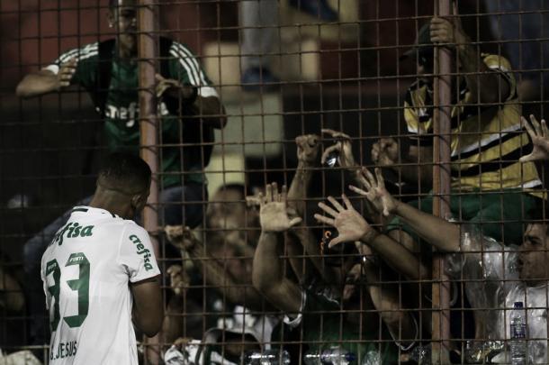 Gabriel Jesus roubou a cena ao servir Erik e marcar o seu (Foto: Cesar Greco/Ag Palmeiras/Divulgação)