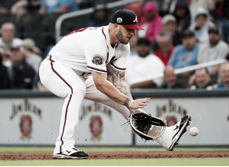 Adams is back to playing his preferred position at first base following the injury to Atlanta's Freddie Freeman. (Photo courtesy of Kevin Cox via Getty Images)