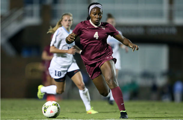 Jamia Fields made 103 appearances for the Florida State Seminoles before being drafted in the 2015 NWSL College Draft. | Photo: Andy Mead - YCJ/Icon Sportswire/Corbis via Getty Images