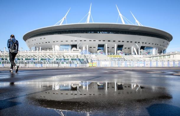 El Estadio de San Petersburgo, sede del partido inaugural del Grupo B   Foto: @FIFAWorldCup