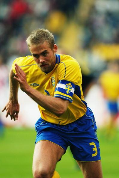 Mellberg, uno de los históricos jugadores suecos | Foto: @FIFAWorldCupSWE