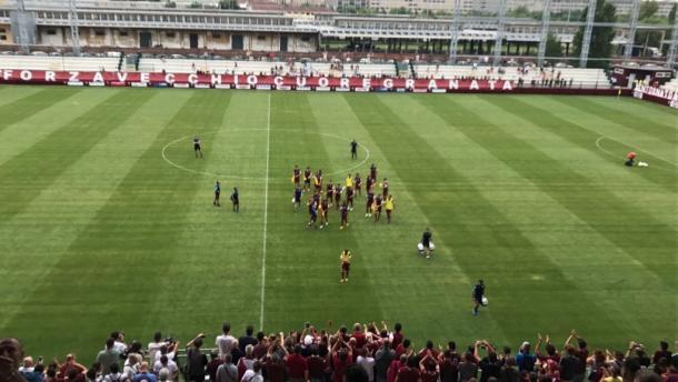 Il primo allenamento del Torino allo Stadio Filadelfia. Fonte: Toro news