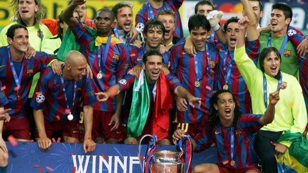 El Barcelona se proclama campeón de la UEFA Champions League en 2006 | Foto: uefa.com