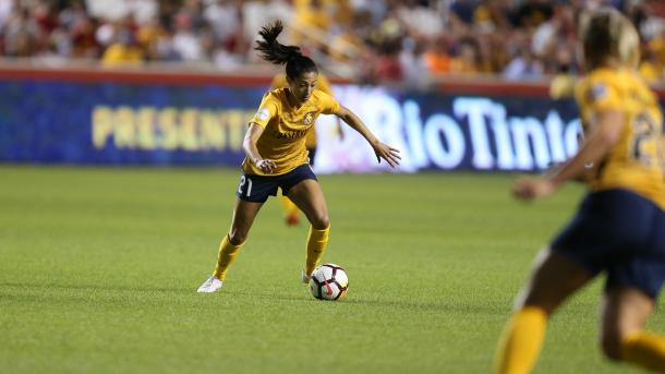 Christen Press looks primed to have a big season with Utah | Source: nwslsoccer.com