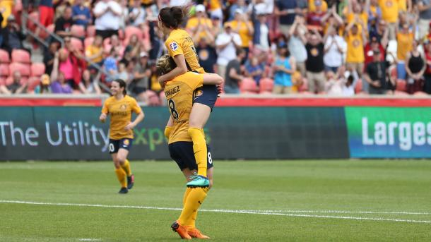 Erika Tymrak celebrates scoring her first goal for Utah | Source: nwslsoccer.com