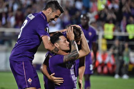 Mauro Zarate, in lacrime dopo il gol del poker - Foto: Getty Images.
