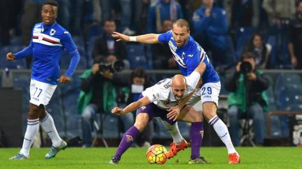 Contrasto di gioco, Borja si difende - Foto: Getty images