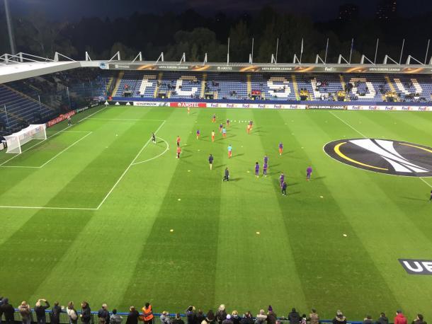 La Fiorentina si scalda - Foto Fiorentinaaraby