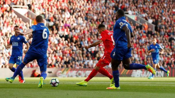 Il goal di Firmino che ha aperto le marcature all'alndata, www.premierleague.com