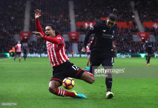 Southampton were made to work very hard for their point against Liverpool on Saturday. Photo: Getty.