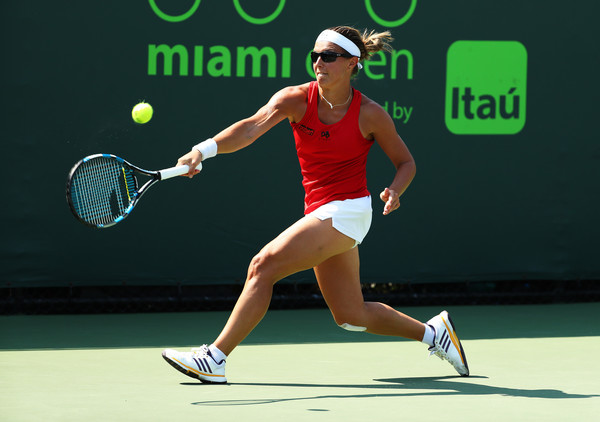 Flipkens has two career victories over Cibulkova and will be looking to add a third in Miami (Photo by Al Bello / Getty Images)