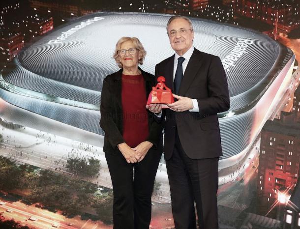 Florentino Pérez y Manuela Carmena presentan el Nuevo Santiago Bernabéu