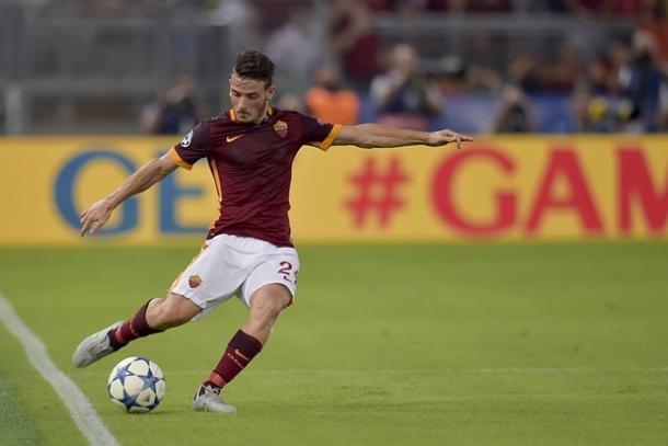 Florenzi marcando gol al Barcelona / Foto: As Roma oficial