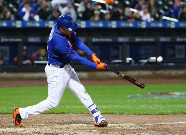 Flores gave the Mets some breathing room with his dinger/Photo: Al Bello/Getty Images