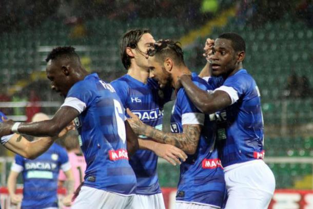 L'Udinese festeggia a Palermo il secondo successo di fila - Foto SportNews