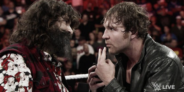 Ambrose and Foley during a segment in 2014 (image:whatculture,com)