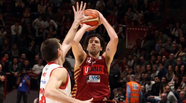 Filloy, splendido nel successo in casa di Pistoia con 20 punti e 4/6 da oltre l'arco - Foto Legabasket.