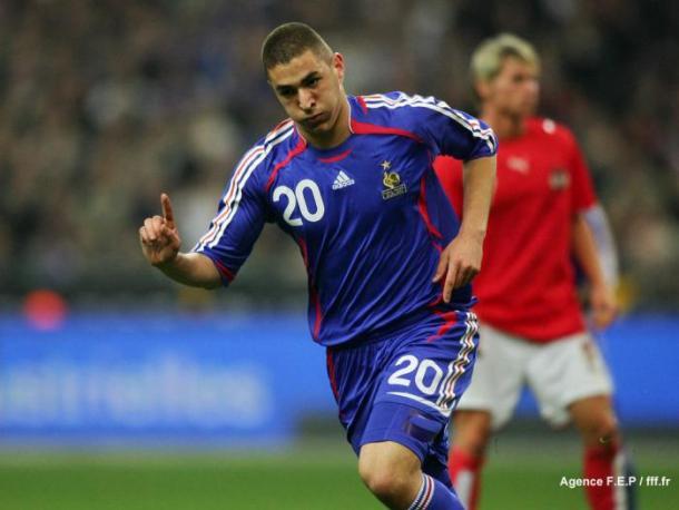 Karim Benzema celebra un gol con la selección de Francia | Agence FEP