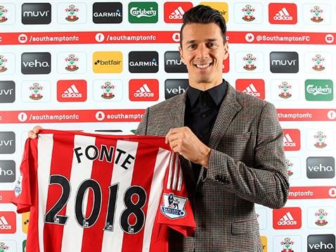Fonte's current contract is due to expire in 2018. | Photo: Southampton Official Website