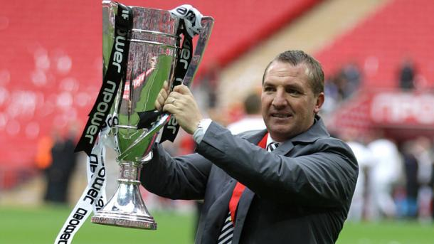 Rodgers guided Swansea to promotion to the Premier League in 2011. (Photo: Sky Sports)